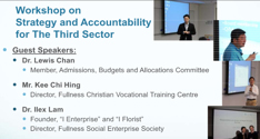 Speak at the Workshop on strategy and accountability