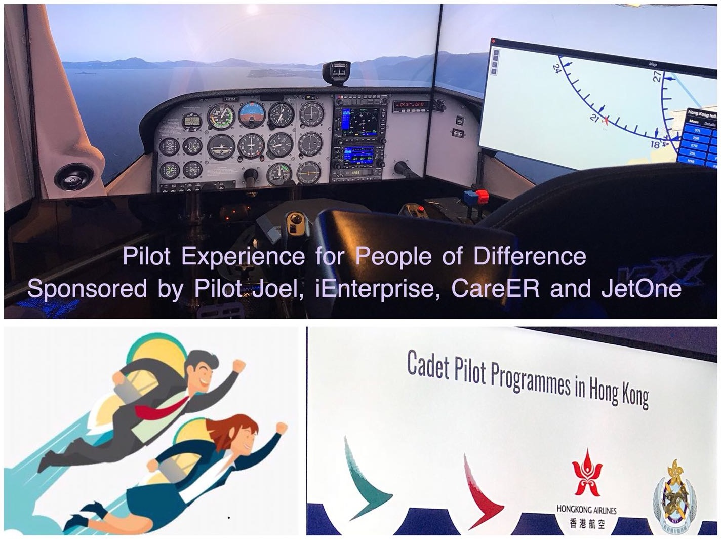 Pilot experience for a group of youngsters with disabilities with simulator