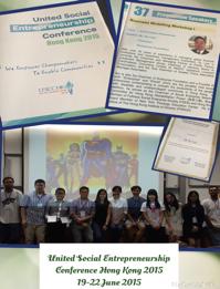 Delivered speech at the United Social Entrepreneurship Conference Hong Kong
